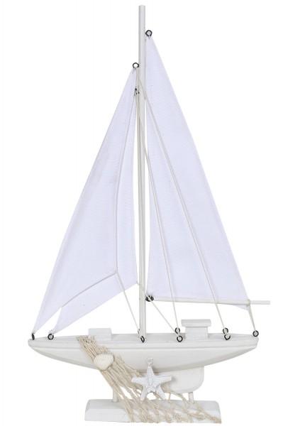 Deko Segelboot weiß, groß
