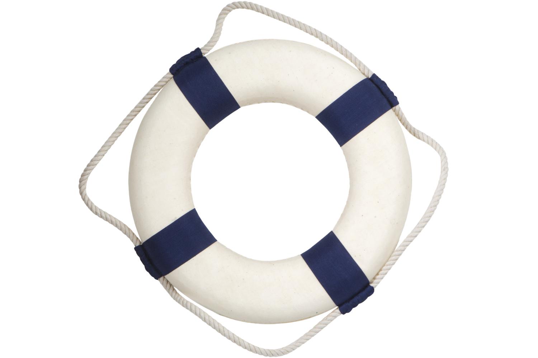 Blau weisse rettungsring zur deko bestellen mare me for Dekoration bestellen