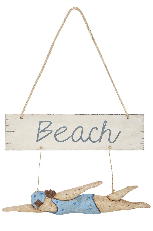Schwimmerin beach deko zum h ngen deko nach themen maritim dekorieren mare me maritime - Holzpaddel deko ...