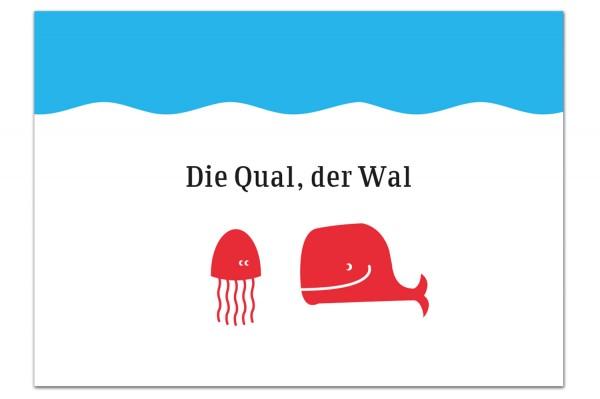 Grußpostkarte von Chatlab Die Qual, der Wal