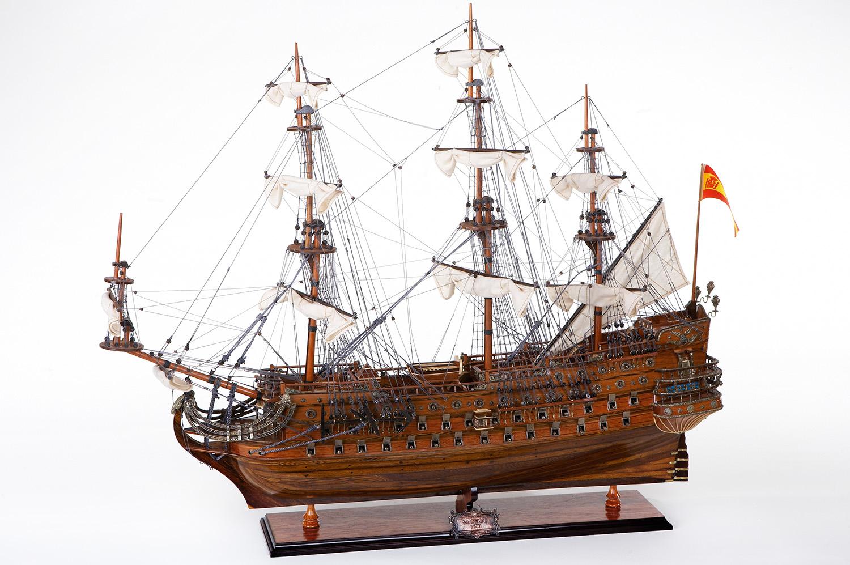 holz modellschiff san felipe historische schiffsmodelle deko schiffsmodelle maritim. Black Bedroom Furniture Sets. Home Design Ideas