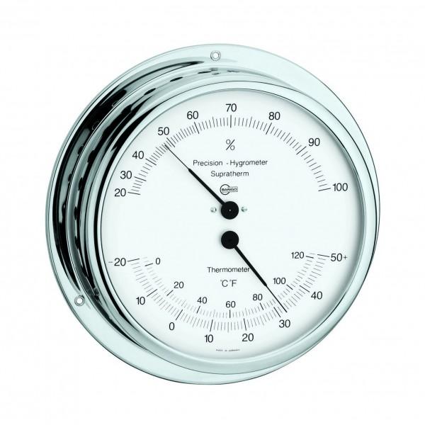Barigo Hygro-/Thermometer, Chromrahmen