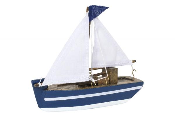 Kleines Segelboot, blau