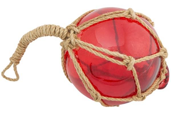 Deko Fischerkugel, rot, 7,5cm