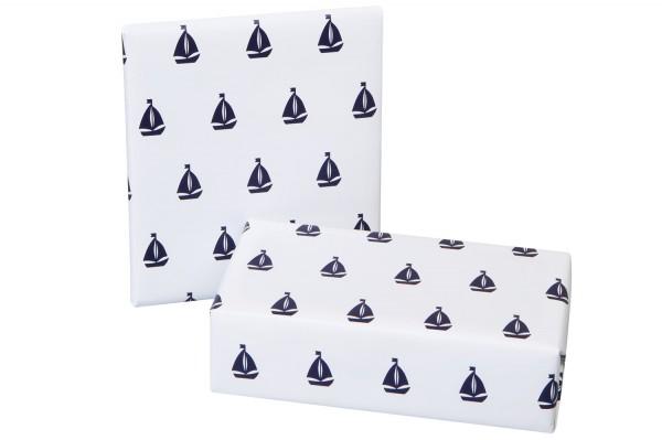 Geschenkpapier weiß Segelschiffe   Online bestellen   mare-me ... bcf6e565ee