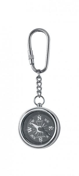 Schlüsselanhänger, Kompass, Silber
