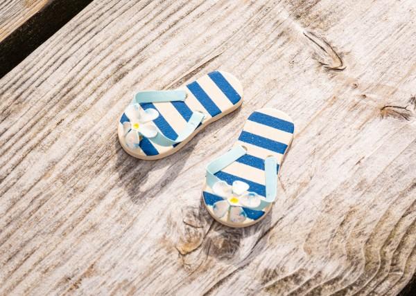 Flip-Flops Deko blau Streifen