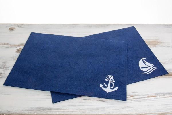 Filz Tischset marineblau