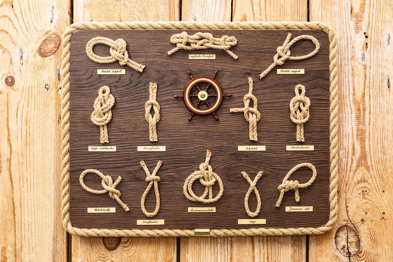 Echte hochwertige knotentafeln mare me maritime dekoration geschenke - Holzpaddel deko ...