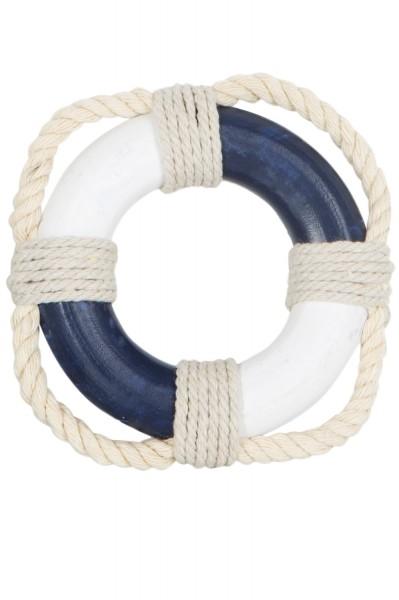 Rettungsring Deko, mini blau weiß