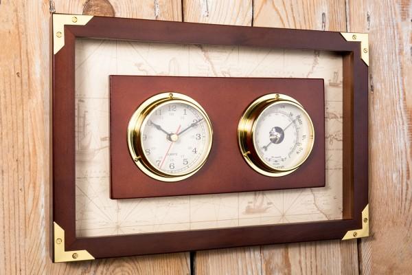 Uhr und Barometer analog