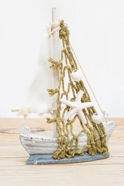 Kleines Deko Segelboot, grau