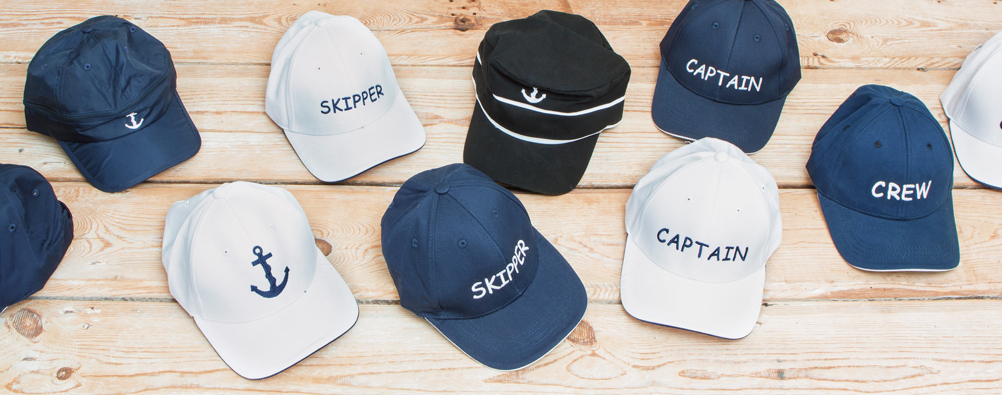 Caps blau und weiß