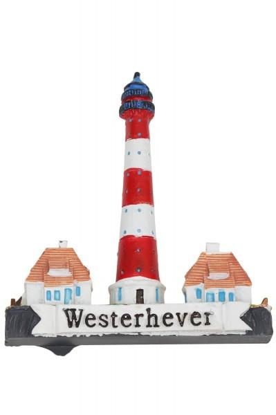 6cm Magnet Leuchtturm Westerhever