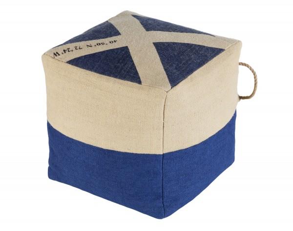 Sitzpuff blau weiß günstig online kaufen   mare-me. Maritime ... 64d14a98d6