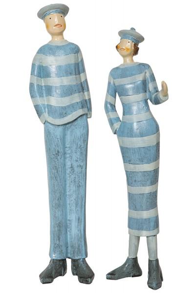 Figur matrosenpaar figuren deko figuren maritim Maritime deko figuren