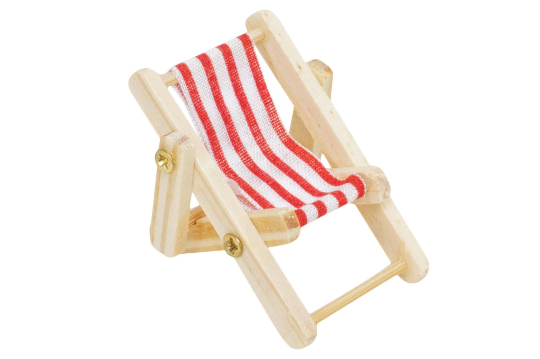 mini liegestuhl blau wei online bestellen mare me maritime dekoration geschenke. Black Bedroom Furniture Sets. Home Design Ideas