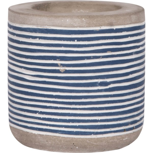 Teelichthalter Beton blau weiß