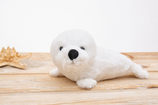 Weiß Seehund Plüschtier 30cm
