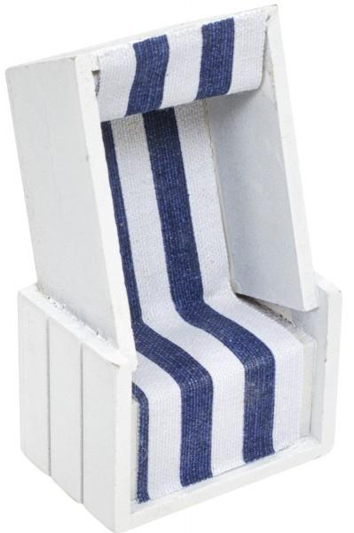 Strandkorb weiss blau Deko