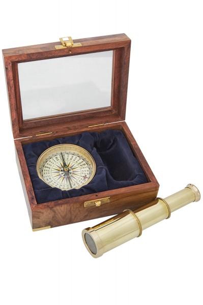 Kompass und Teleskop