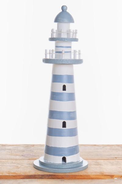 Deko Leuchtturm grau