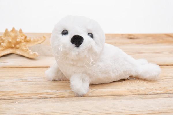 Plüsch Seehund weiss 24cm