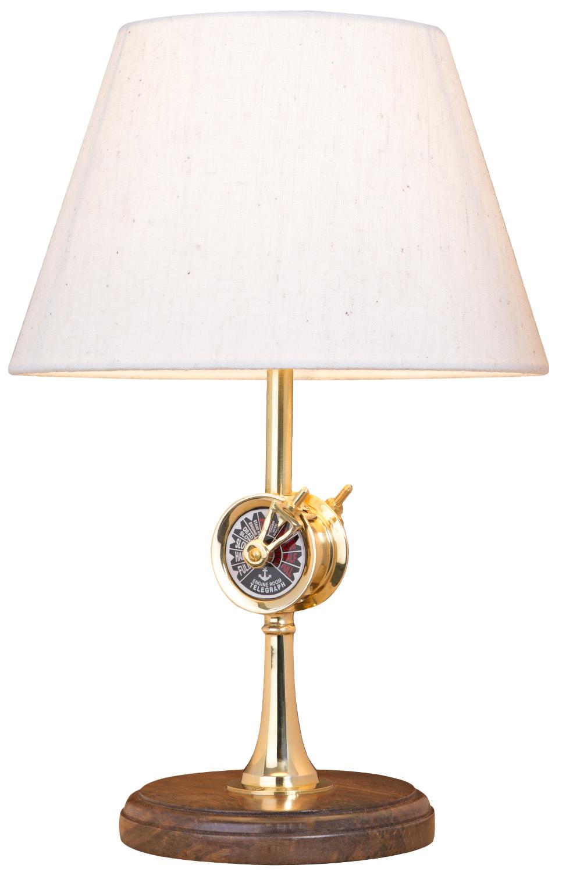 tischlampe maschinentelegraph leuchten holz messing. Black Bedroom Furniture Sets. Home Design Ideas