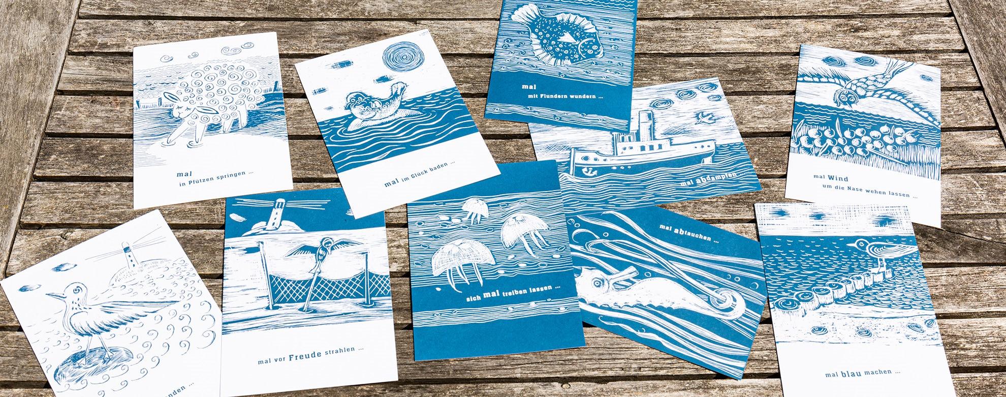 Kunstpostkarten Ostsee
