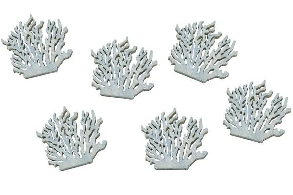Holzstreuteil Koralle Blau