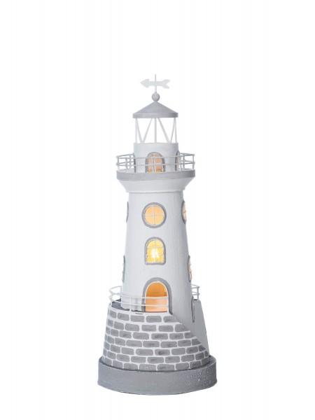 Leuchtturm weiß mit Treppe