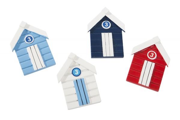 Bunte Kühlschrankmagnete Strandhäuser