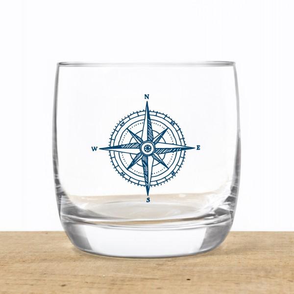Whiskyglas Kompass
