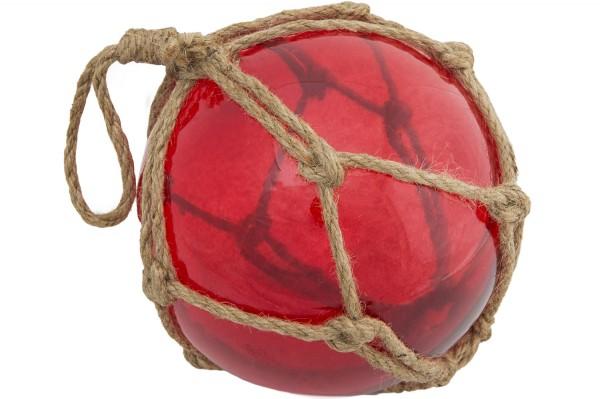 Deko Fischerkugel, rot, 12,5cm