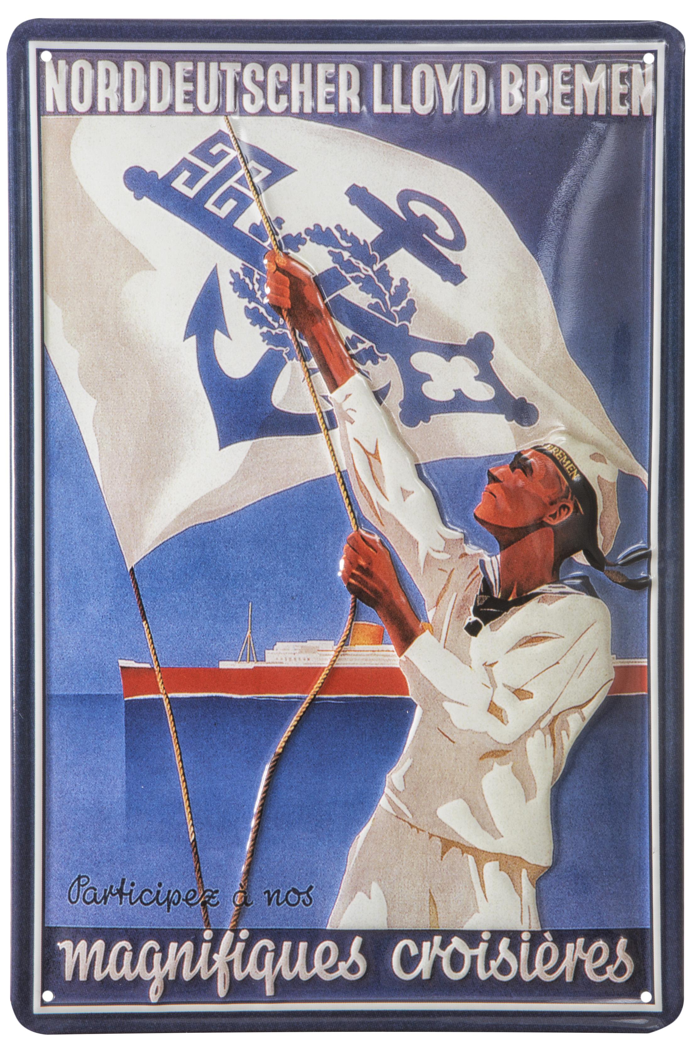 Nostalgieschild blechschild nostalgieschilder for Maritime wohnaccessoires