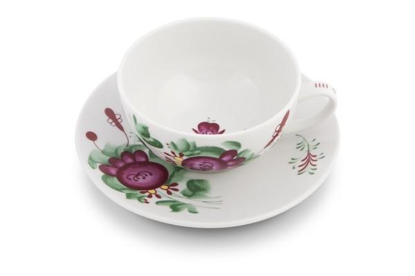Teetasse mit Untertasse Ostfriesenrose 0,14l