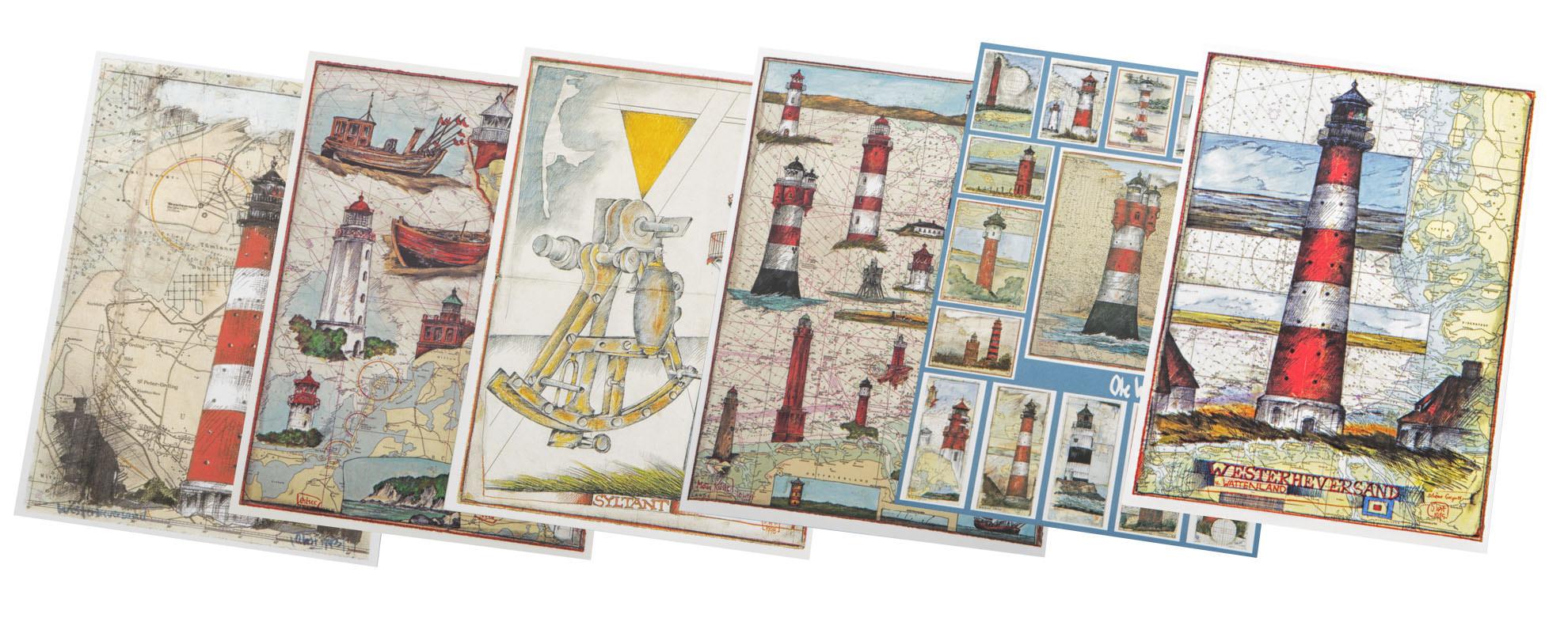 Postkarten Leuchttürme