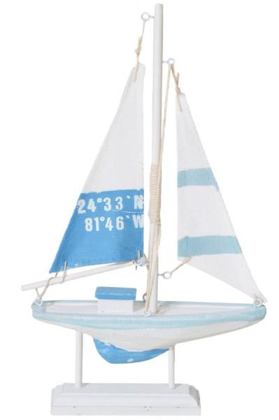 Deko Segelboot türkis blau