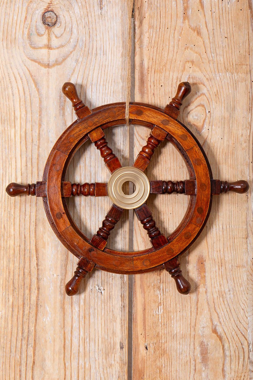 Deko holzsteuerrad light steuerr der deko maritime standards maritime klassiker mare - Holzpaddel deko ...