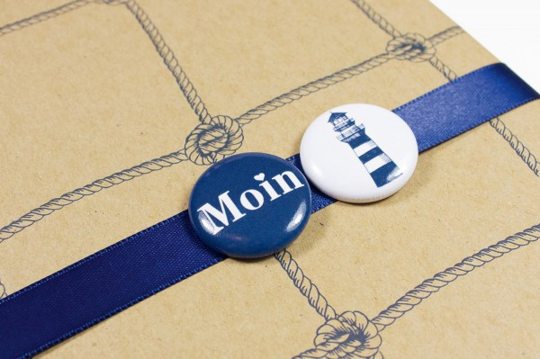 Button Moin blau weiß online kaufen.   mare-me. Maritime Dekoration ... a658528174