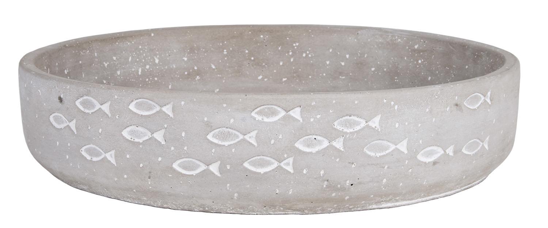 deko beton schale 30cm online kaufen mare me maritime dekoration geschenke. Black Bedroom Furniture Sets. Home Design Ideas
