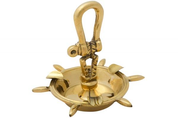 Ascher messing sch kel aschenbecher wohnaccessoires for Maritime wohnaccessoires
