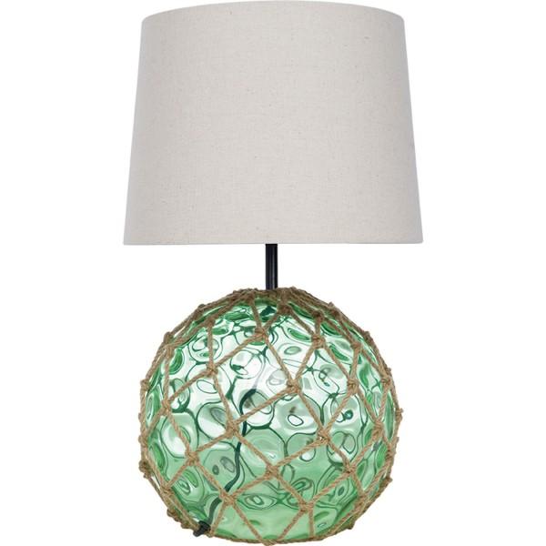 Grüne runde Tischleuchte Glas