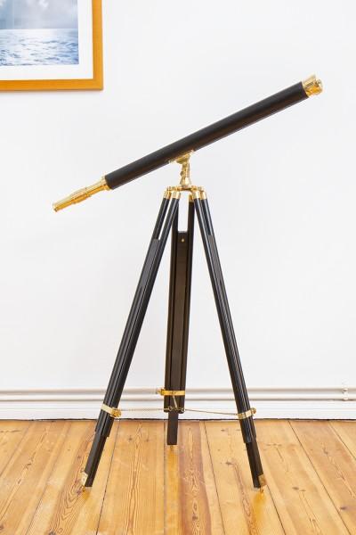 Antikes Teleskop Holzstativ 130cm