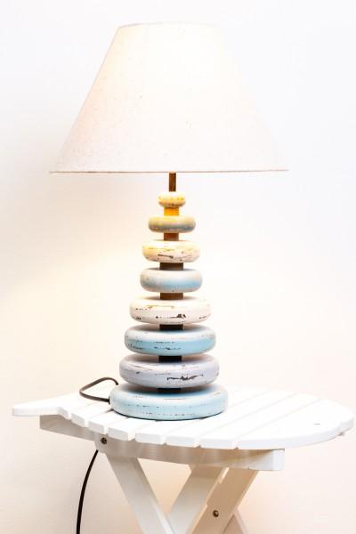 Türkise Lampe im Vintage Stil