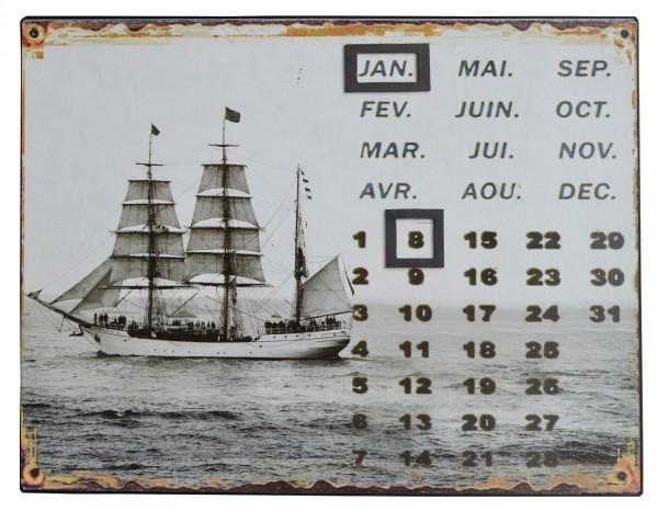 Wandkalender Yacht