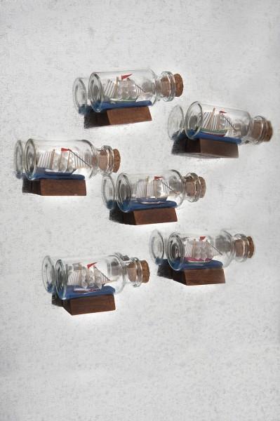 Kühlschrankmagnete Flaschenschiffe