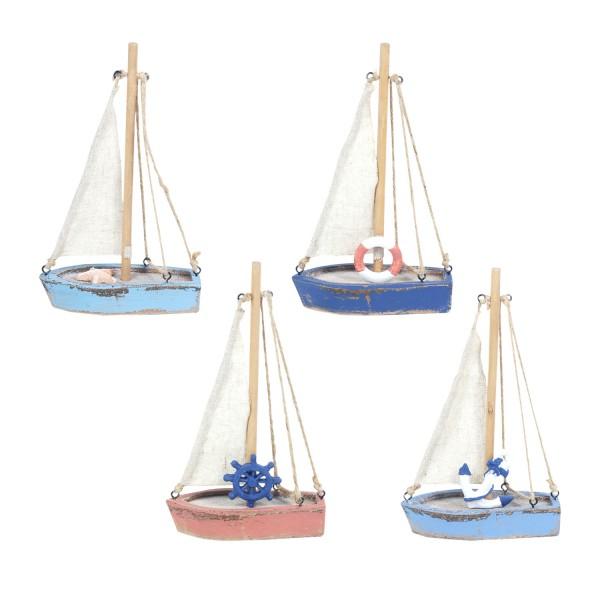 Kleine bunte Segelboote