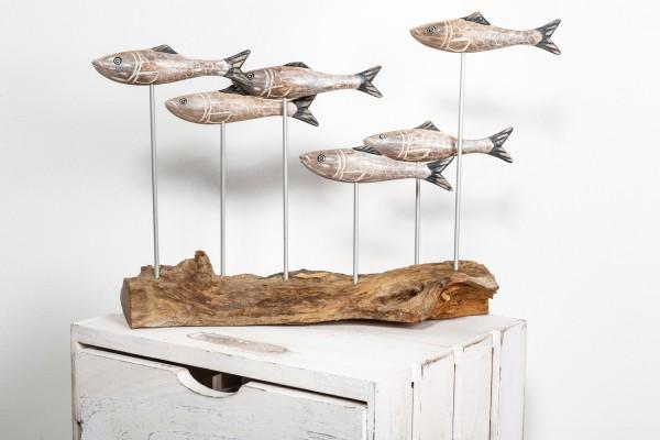 Fischschwarm Treibholz Kunsthandwerk