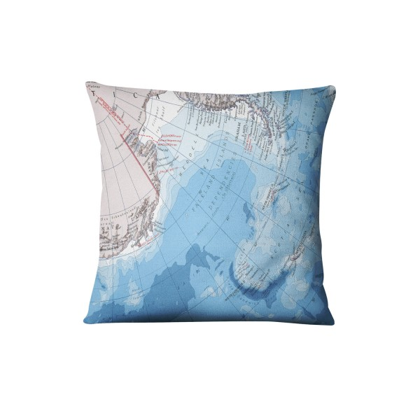 Globus Karte.Kissen Globus Karte